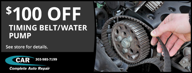 $100 Off Timing Belt/Water Pump