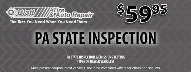 PA State Inspection - $59.95
