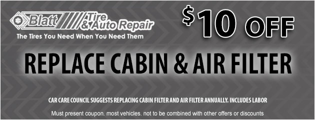 Replace Cabin & Air Filter Special