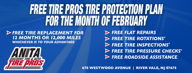 FREE Tire Pros Tire Protection Plan for the month of February