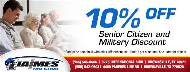 10% Off Senior Citizen and Military Discount
