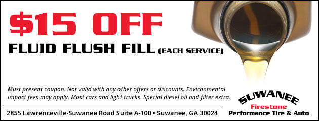 $15 Off Fluid Flush & Fill Service