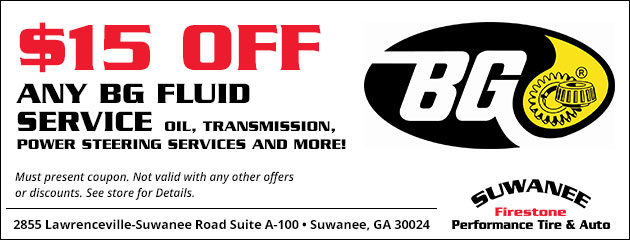$15 Off Any BG Fluid Service
