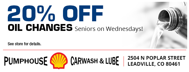 20% off oil changes for all seniors on Wednesdays!