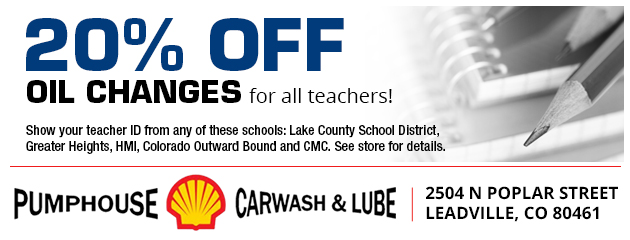 20% off oil changes for all teachers!