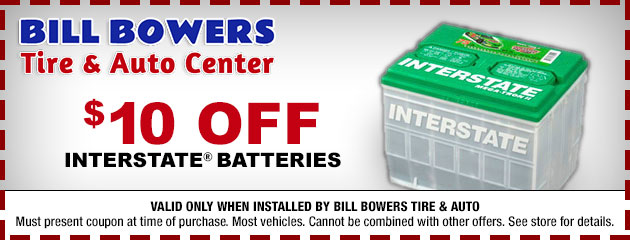 $10 Off Interstate Batteries