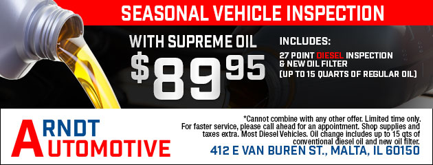 Seasonal Vehicle Inspection