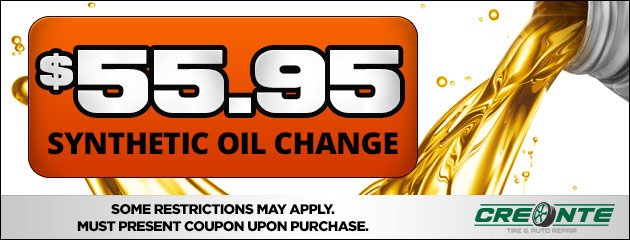 $55.95 Synthetic Oil Change