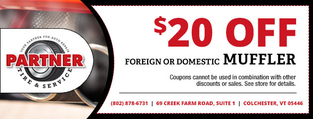 $20 Off a Foreign or Domestic Muffler