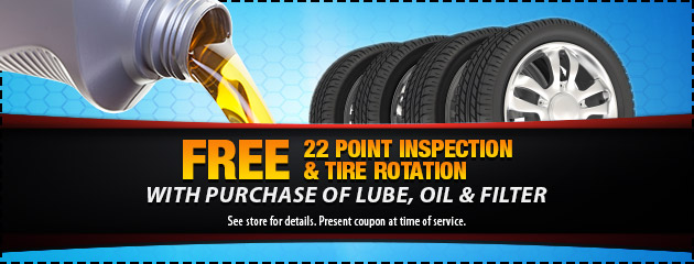 Free 22 Point Inspection and Rotation