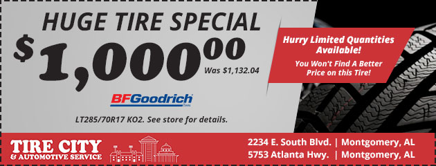 Huge Tire Sale Special! $1000.00