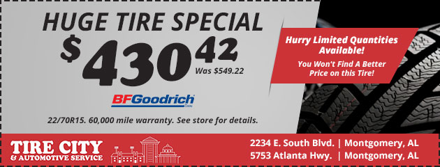 Huge Tire Sale Special! $430.42