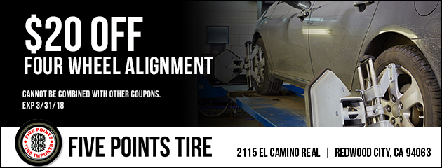 $20 Off Four Wheel Alignment