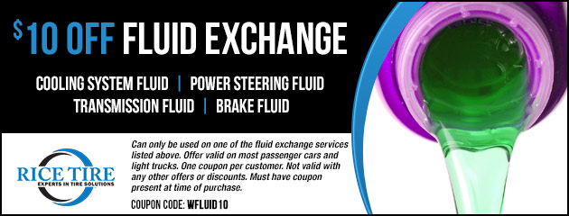 $10 OFF Fluid Exchange