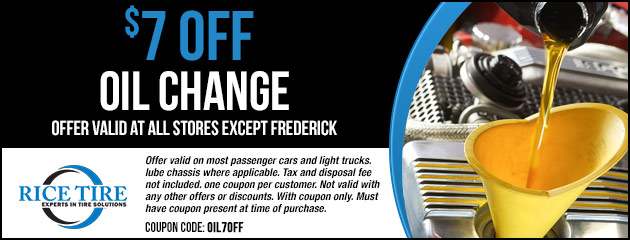 $7 OFF Oil Change Special