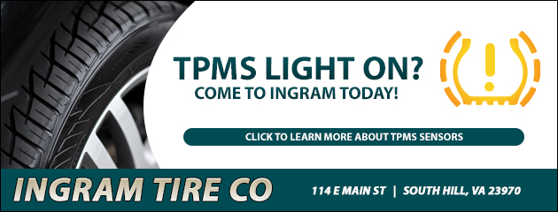 TPMS Light on? Come to Ingram Today!