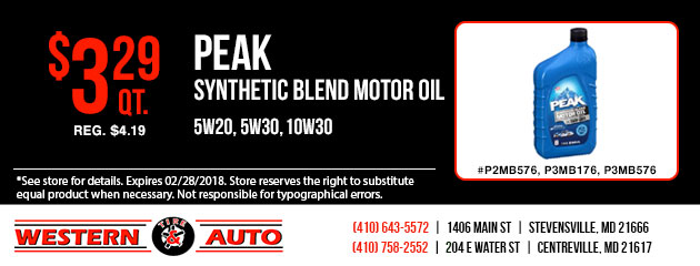 Peak Synthetic Blend Motor Oil Special