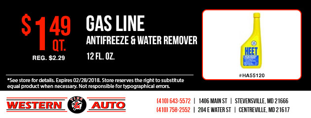 Gas Line Antifreeze and Water Remover Special