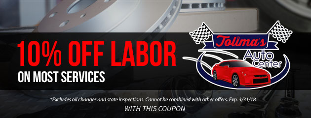 10% Off Labor on Most Services