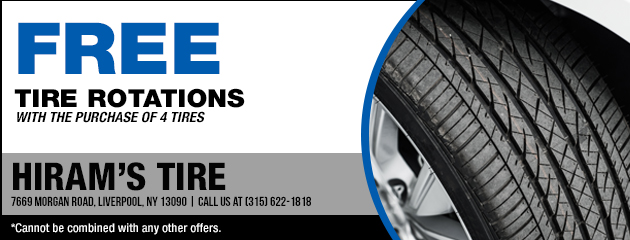 Free Tire Rotations with the Purchase of 4 Tires