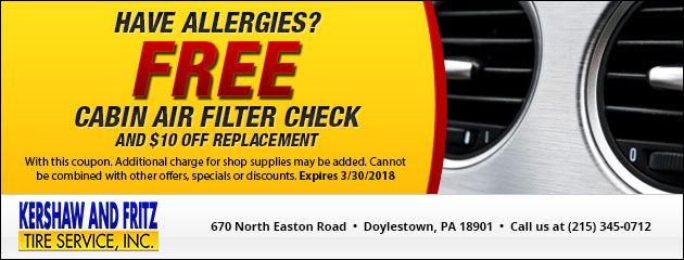 FREE Cabin Air Filter Check