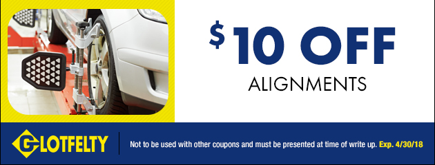 $10.00 Off Alignment Special