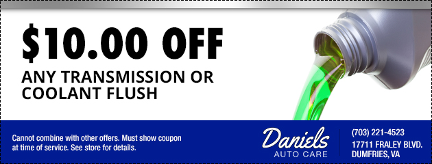 Transmission or Coolant Flush Coupon