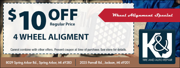 $10 Off a 4 Wheel Alignment