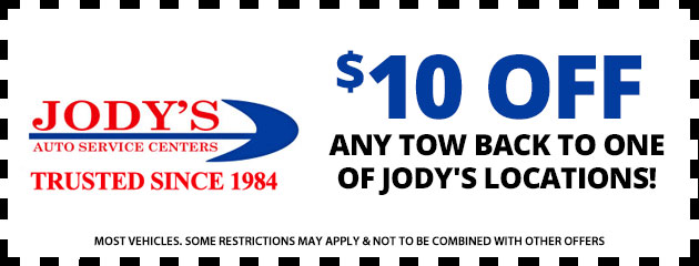 $10 off Any Tow Back to One of Jody's Locations