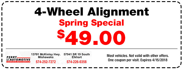 4 Wheel Alignment Only $49.00