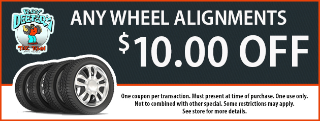 $10 Off Any Wheel Alignments