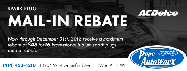 ACDelco Spark Plug Main-In Rebate