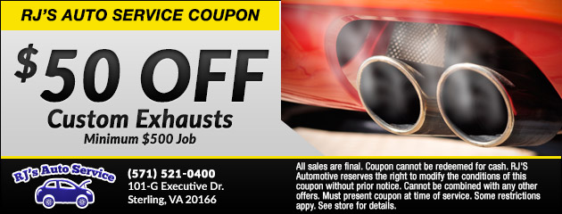 $50 Off Custom Exhausts