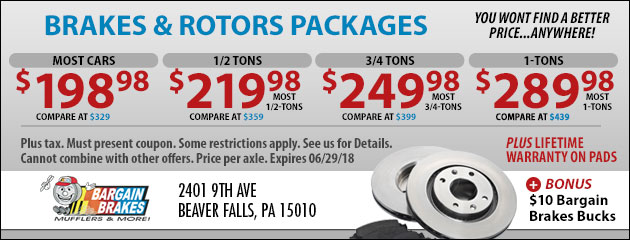 Brakes and Rotors Packages