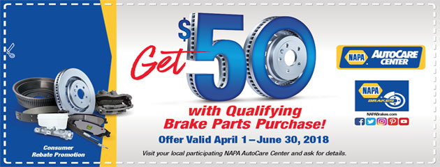 Get $50 with Qualifying Brake Parts Purchase!