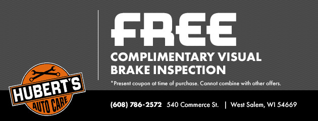 Free Complimentary Visual Brake Inspection