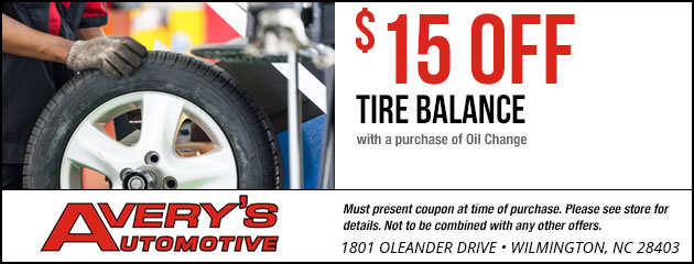 $15 Off Tire Balance with Oil Change Purchase