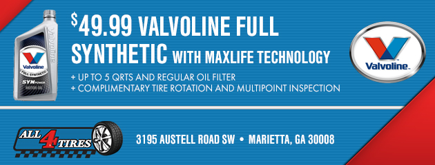 $49.99 Valvoline Full Synthetic Oil Change Special