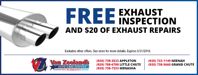 Free Exhaust Inspection and $20.00 of Exhaust Repairs