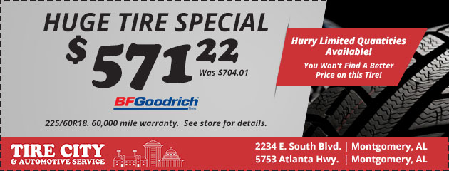 Huge Tire Sale Special! $571.22