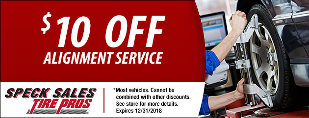 $10 off an Alignment Service