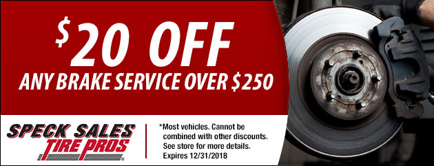 $20 Off Any Brake Service Over $250