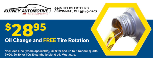 $28.95 Oil Change with FREE Tire Rotation
