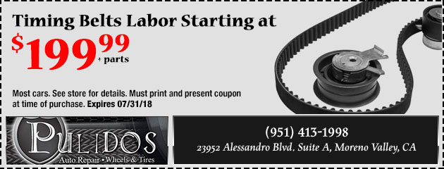 Timing Belts Labor Special Starting at $199.99