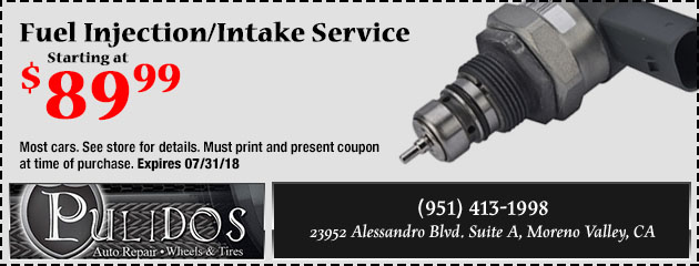 Fuel Injection/Intake Service Starting at $89.99