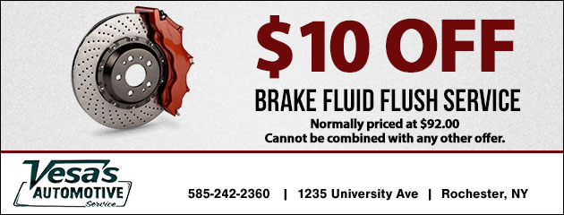 $10.00 Off Brake Fluid Flush Service
