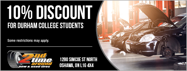 10% Discount for Durham College Students
