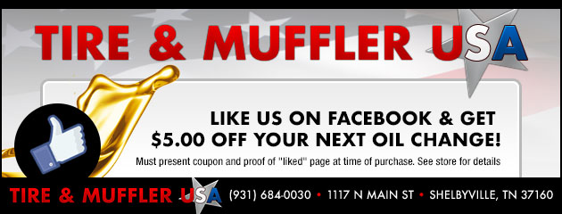Like us on Facebook & Recieve $5.00 off your next oil change!