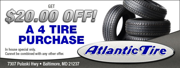 Get $20.00 Off!  a 4 Tires Purchase