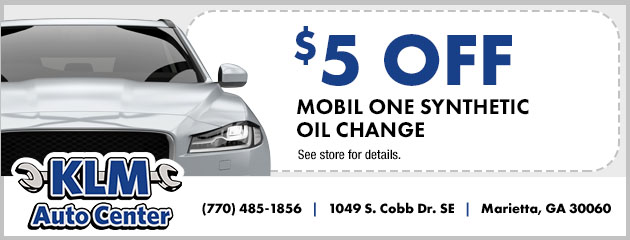 $5 Off Mobil one Synthetic Oil Change